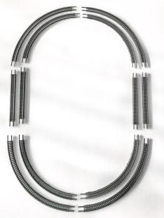 60 and 70mm radius oval