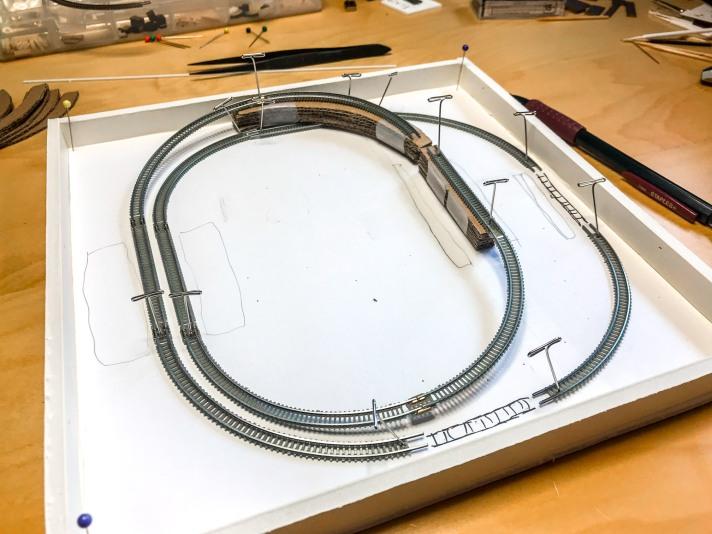 Mockup of layout